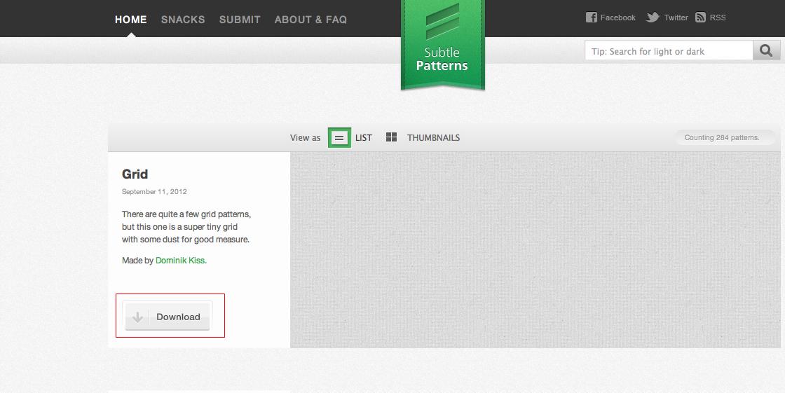 SubtlePatterns, texturas gratis para tu próximo proyecto